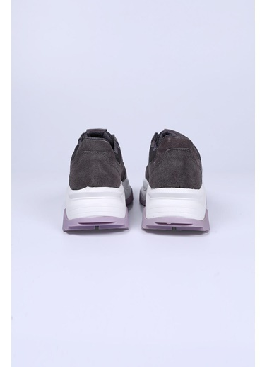 Female Project Gri Lila Hakiki Deri Sneaker Gri